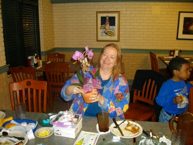 With Peter's orchid