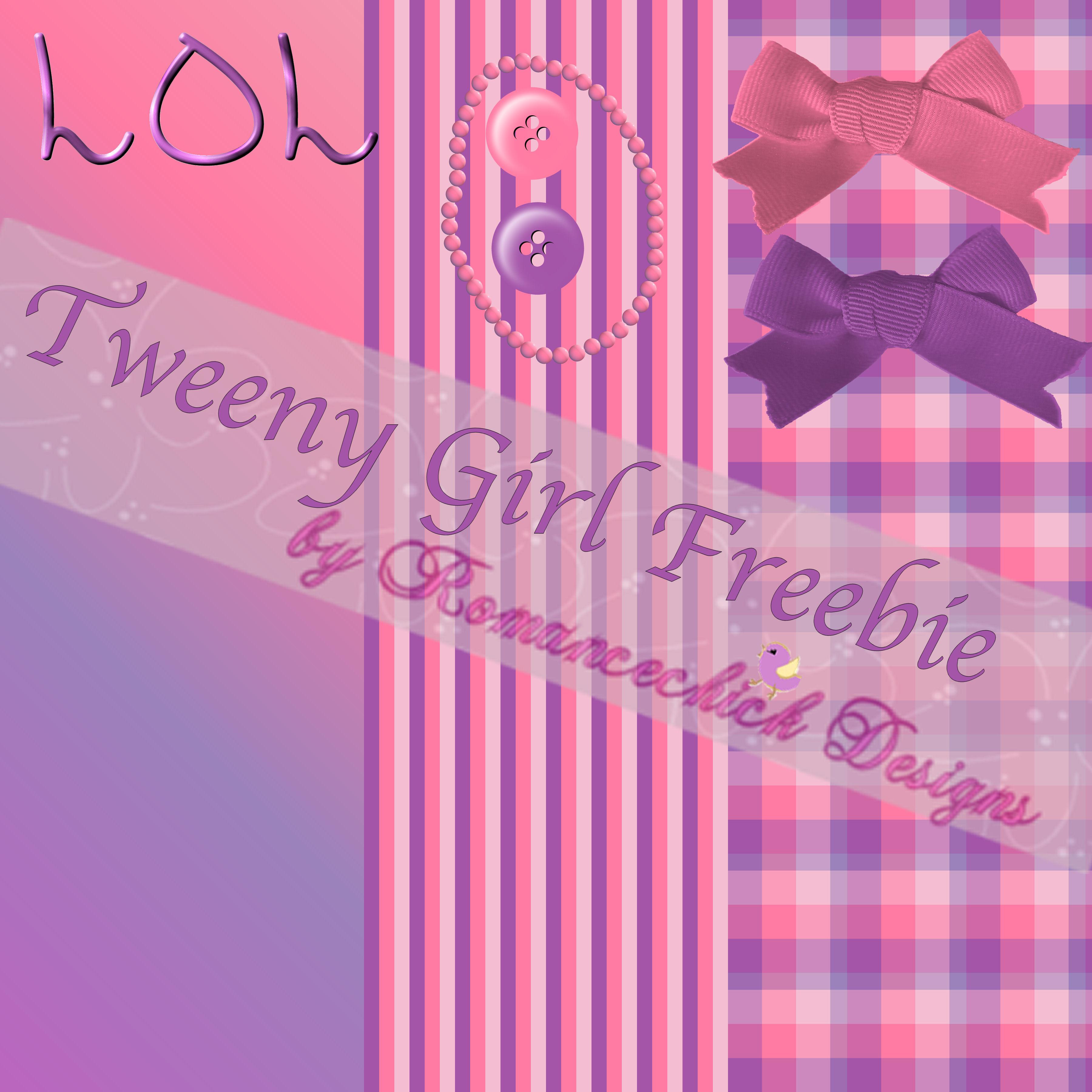 Tweeny Girl Add-on Freebie